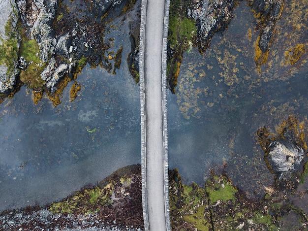 Foto de drone do castelo eilean donan, escócia