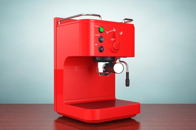 Foto de estilo antigo. máquina de fazer café expresso na mesa