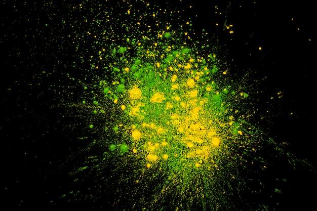 Foto de estúdio de cores brilhantes holi