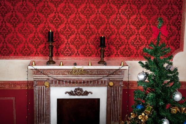 Foto de estúdio de interior sensacional vintage de natal