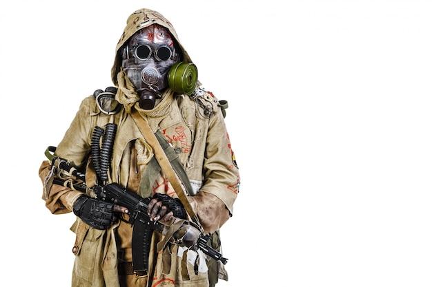 Foto de estúdio do sobrevivente nuclear