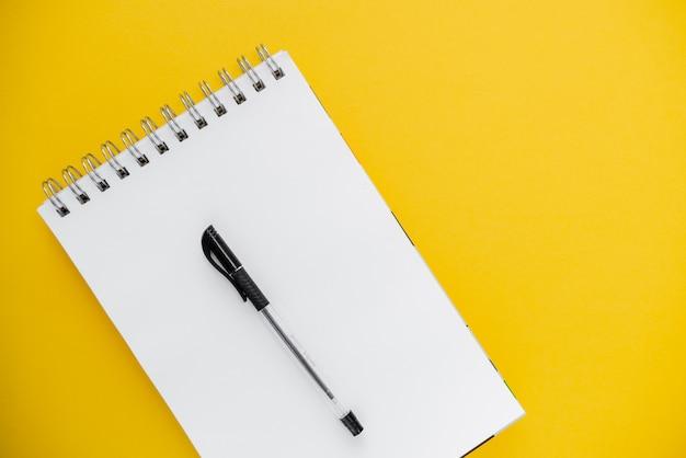 Foto, de, lápis, e, notepad