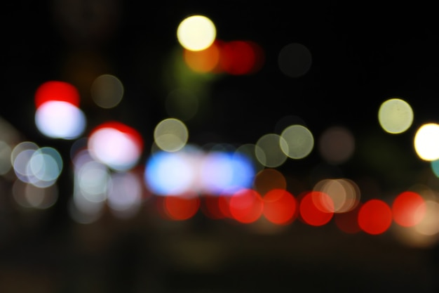 Foto, de, luz rua, bokeh