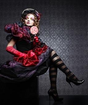 Foto de moda de mulher em estilo boneca