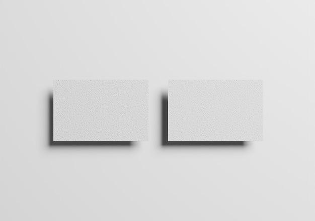 Foto de modelo elegante de cartão de visita em branco vista de cima