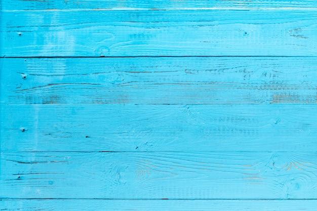 Foto de textura de madeira azul, placa horizontalmente