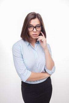 Foto de uma linda mulher de negócios