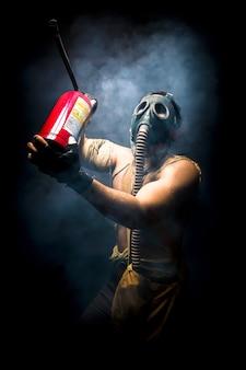 Foto do extintor de incêndio
