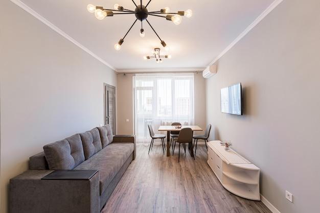 Foto do interior de uma sala de estar em estilo moderno