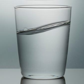 Foto macro de copo de água