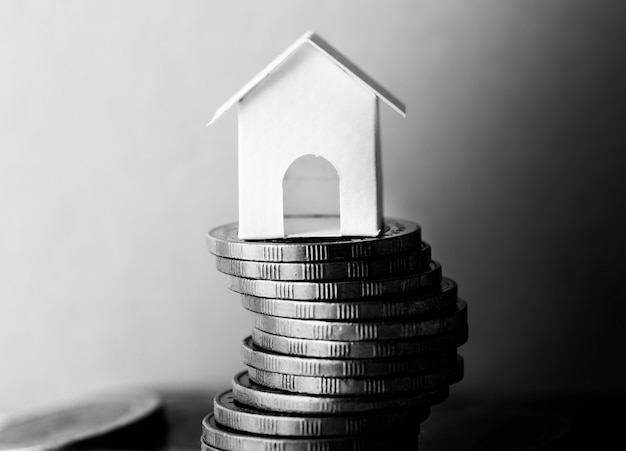 Foto macro do conceito de hipoteca financeira