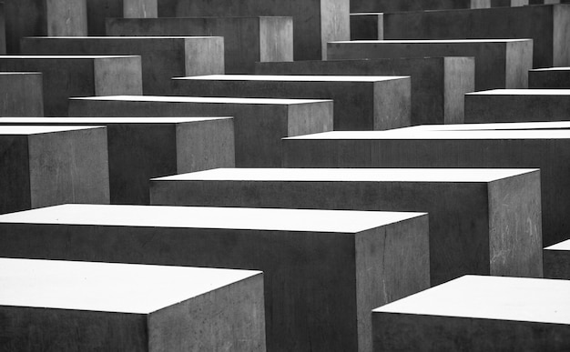 Foto modelada dos túmulos memoriais da guerra mundial em berlim