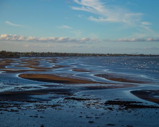 Foto panorâmica de um litoral de brzezno gdansk polônia