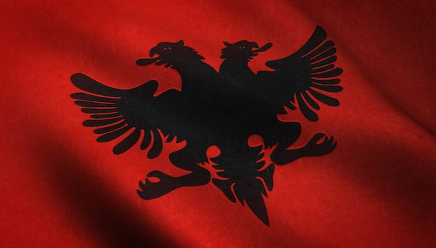 Foto realista da bandeira do alabama acenando com texturas interessantes Foto gratuita