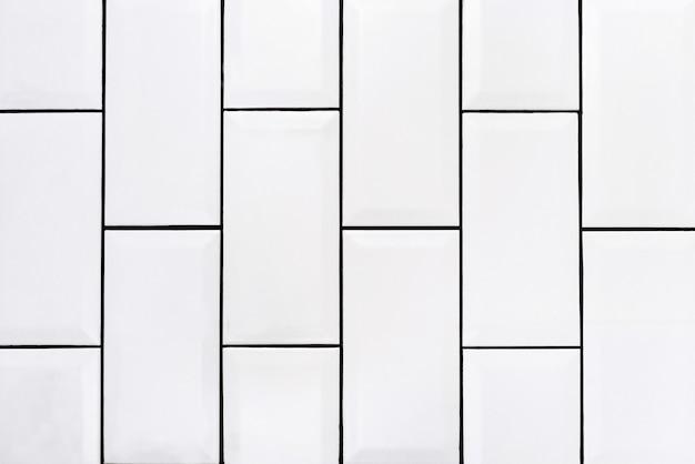 Foto vertical de fundo comum de azulejos brancos vintage