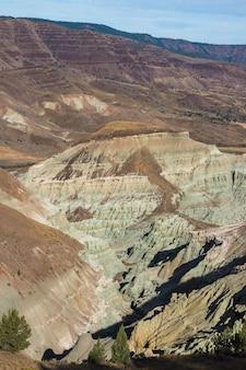 Foto vertical de um deserto com formações rochosas