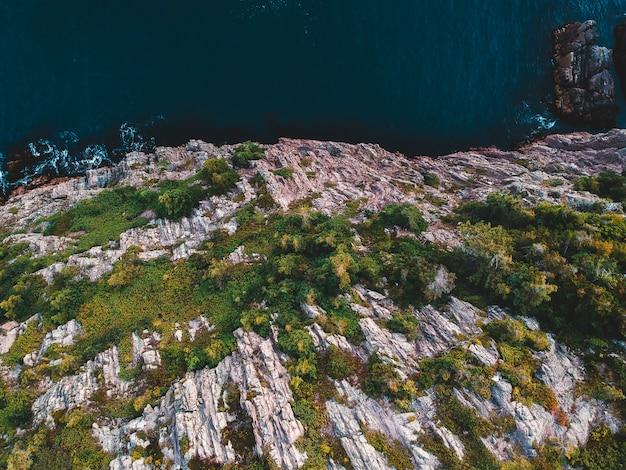 Fotografia aérea da montanha