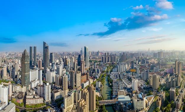 Fotografia aérea da paisagem arquitetônica da cidade de wuxi na china