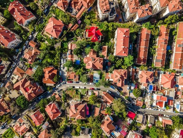 Fotografia aérea da paisagem arquitetônica da cidade velha de qingdao