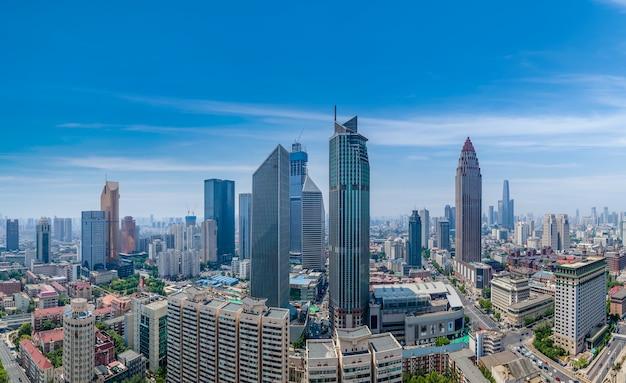 Fotografia aérea da paisagem arquitetônica urbana de tianjin