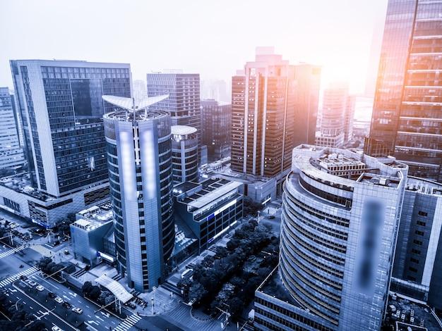 Fotografia aérea da paisagem arquitetônica urbana moderna de suzhou