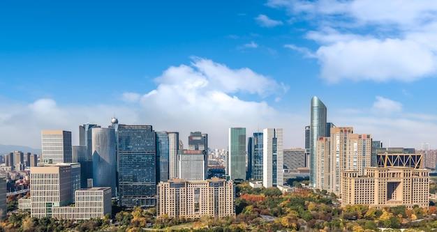 Fotografia aérea da paisagem arquitetônica urbana moderna em hangzhou, china