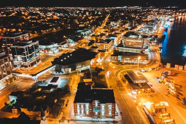 Fotografia aérea da paisagem urbana