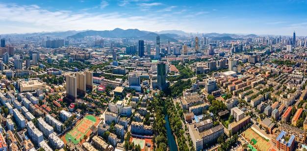Fotografia aérea da principal cidade de jinan
