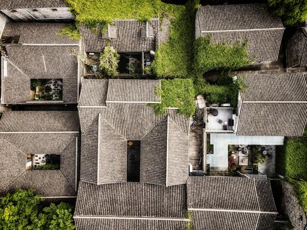 Fotografia aérea de edifícios antigos em laomendong, nanjing