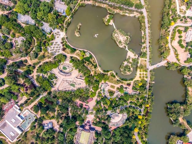Fotografia aérea do parque aquático tianjin