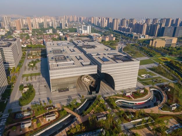Fotografia aérea horizonte arquitetônico da paisagem de changzhou
