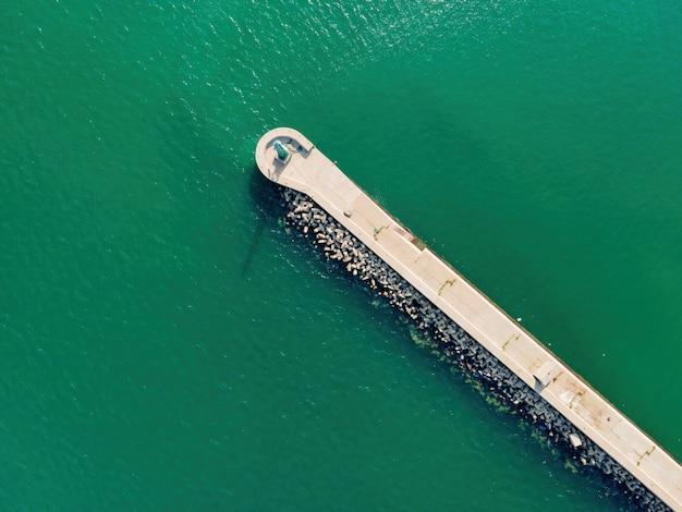 Fotografia aérea, mar, paredão