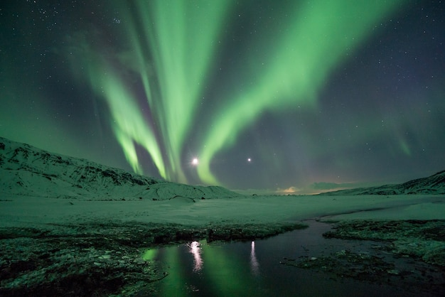 Fotografia da aurora boreal