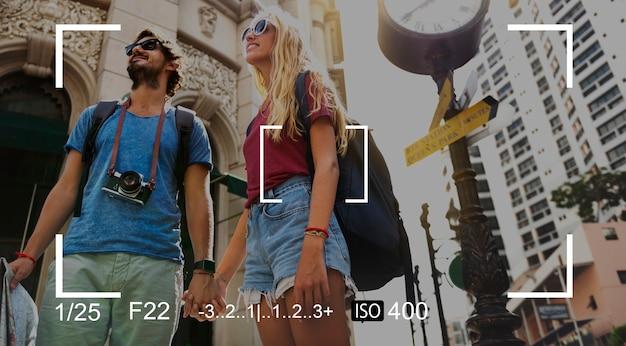 Fotografia da câmera foco shoot copy space