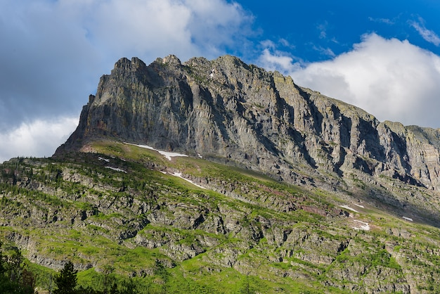 Fotografia de paisagem do parque nacional glacier eua