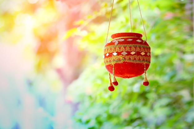 Fotografia do festival dahi handi na índia