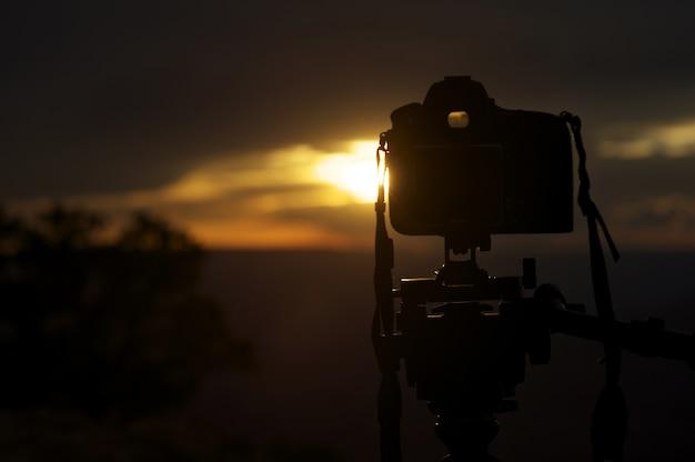 Fotografia do por do sol