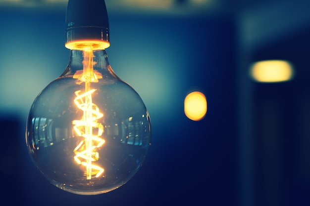 Fotografia em close da lâmpada