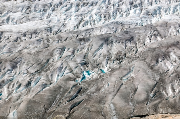 Fotografia grande glaciar aletsch, fundo de neve vazio
