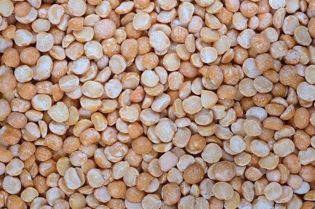 Fotografia macro close-up de fundo de mercearia de ervilhas secas