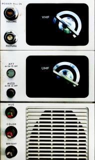 Fotografia painel analógico de televisão