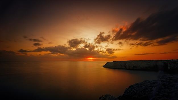 Fotografia panorâmica do amanhecer