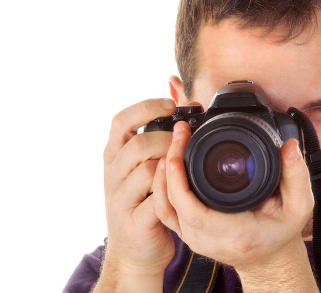 Fotógrafo com câmera