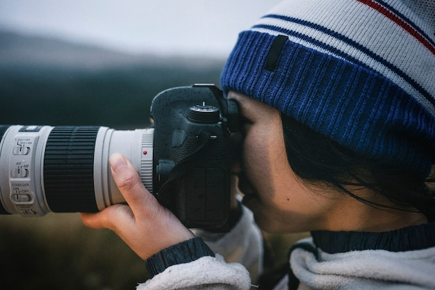 Fotógrafo de natureza feminina