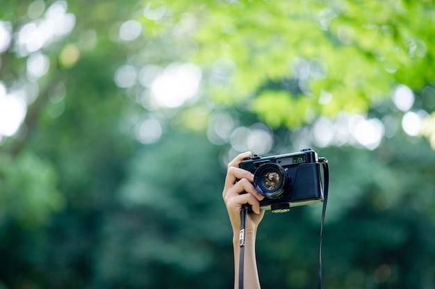 Fotógrafo e câmera