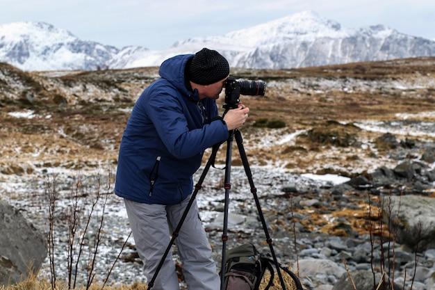 Fotógrafo nas montanhas