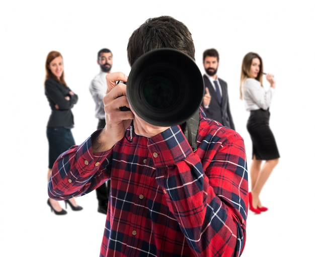 Fotógrafo pegando uma foto
