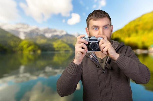 Fotógrafo tirando uma foto