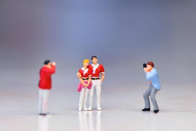 Fotograper figura em miniatura