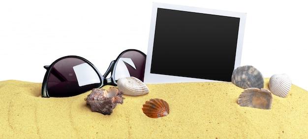 Fotos em fundo de areia